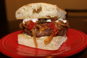 French Onion Fajita Burger