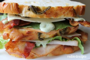 Jalapeno Ranch Turkey and Bacon Club