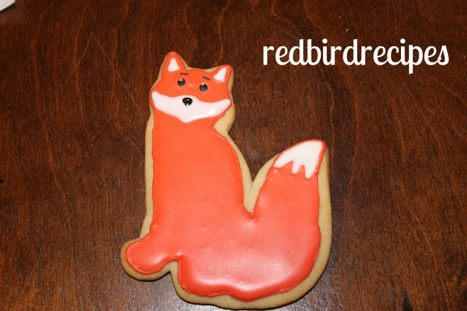 Fox Cookie with Royal Icing