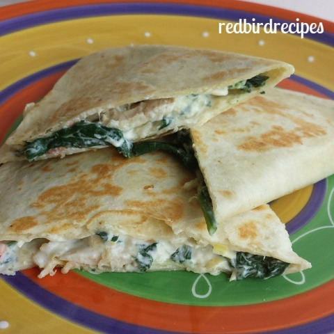 Spinach and Artichoke Quesadillas
