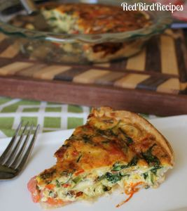Garden Quiche with Bacon and Goat Cheese
